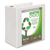 "Earth's Choice Biobased D-Ring View Binder, 5"" Cap, White"