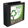 "Earth's Choice Biobased D-Ring View Binder, 3"" Cap, Black"