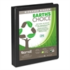 "Earth's Choice Biobased D-Ring View Binder, 1"" Cap, Black"