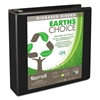 "Earth's Choice Biobased D-Ring View Binder, 2"" Cap, Black"