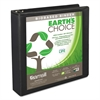 "Earth's Choice Biobased Round Ring View Binder, 1.5"" Cap, Black"