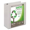 "Earth's Choice Biobased D-Ring View Binder, 3"" Cap, White"