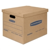 SmoothMove Classic Medium Moving Boxes, 18l x 15w x 14h, Kraft/Blue, 8/Carton