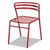 Safco CoGo Steel Outdoor/Indoor Stack Chair, Red, 2/Carton