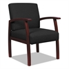 Alera Alera Reception Lounge 700 Series Guest Chair, Mahogany/Black