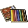 Polycolor Drawing Pencils, 3.8 mm, Open Tin, 24 Assorted Colors/Set