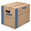 Bankers Box SmoothMove Prime Small Moving Boxes, 16l x 12w x 12h, Kraft/Blue, 10/Carton