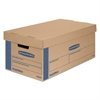 Bankers Box SmoothMove Classic Large Moving Boxes, 21l x 17w x 17h, Kraft/Blue, 5/Carton