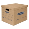 SmoothMove Classic Small Moving Boxes, 15l x 12w x 10h, Kraft/Blue, 20/Carton
