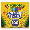Long Barrel Colored Woodcase Pencils, 3.3 mm, 100 Assorted Colors/Set