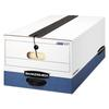 Bankers Box LIBERTY Plus Storage Box, Legal, String/Button, White/Blue, 12/Carton