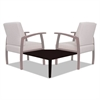 Reception Lounge 700 Series Gang Table, Corner, 27 1/2 x 27 1/2, Mahogany
