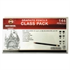 Toison d'Or Graphite Pencils, 3.8 mm, Class Pack, 6 Shades, 6B-2H, 24/Set