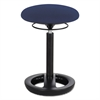 "Twixt Desk Height Ergonomic Stool, 22 1/2"" High, Blue Fabric"