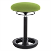 "Twixt Desk Height Ergonomic Stool, 22 1/2"" High, Green Fabric"
