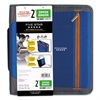 "Zipper Binder, 11 x 8 1/2, 2"" Capacity, Blue"