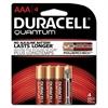 Quantum Alkaline Batteries with Duralock Power Preserve Technology, AAA, 4/Pk