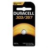 Duracell Button Cell Silver Oxide Calculator/Watch Battery, 303/357, 1.5V, 1/EA