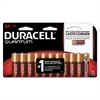 Duracell Quantum Alkaline Batteries with Duralock Power Preserve Technology, AA, 12/Pk