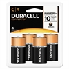 CopperTop Alkaline Batteries with Duralock Power Preserve Technology, C, 4/Pk