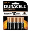 Duracell CopperTop Alkaline Batteries with Duralock Power Preserve Technology, AA, 8/Pk