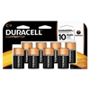 Duracell CopperTop Alkaline Batteries with Duralock Power Preserve Technology, C, 8/Pk