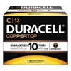 Duracell CopperTop Alkaline Batteries with Duralock Power Preserve Technology, C, 12/Box