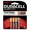 Duracell Quantum Alkaline Batteries with Duralock Power Preserve Technology, AAA, 8/Pk