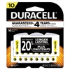 Duracell Button Cell Hearing Aid Battery, #10, 16/Pk
