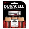 Quantum Alkaline Batteries w/ Duralock Power Preserve Tech, 9V, 3/Pk, 36 PK/CT