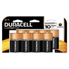 Duracell CopperTop Alkaline Batteries with Duralock Power Preserve Technology, D, 8/Pk