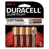 Quantum Alkaline Batteries with Duralock Power Preserve Technology, AA, 4/Pk