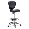 Metro Collection Extended Height Swivel/Tilt Chair, Black Vinyl