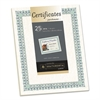 Southworth Parchment Certificates, Ivory w/Green & Blue Border, 8 1/2 x 11, 25/Pack