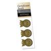 """Gold Foil Certificate Seals, """"Outstanding Excellence"""", 1 1/4""""w x 2""""h , 12/Pack"""