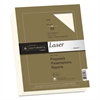 Southworth 25% Cotton Premium Laser Paper, 32lb, Smooth, 8 1/2 x 11, Ivory, 300 Sheets