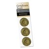 "Gold Foil Certificate Seals, ""Achievement"", 1 3/4"" dia, 12/Pack"