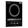 Astrobrights Color Cardstock, 65lb, 8 1/2 x 11, Eclipse Black, 100 Sheets