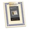 Foil-Enhanced Parchment Certificate, Ivory w/Blue/Silver Foil, 8 1/2 x 11, 15/PK