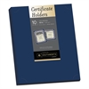 Southworth Certificate Holder, Navy, 105lb Linen Stock, 12 x 9 1/2, 10/Pack
