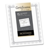 Southworth Premium Certificates, White, Spiro Silver Foil Border, 66 lb,  8,5 x 11, 15/Pack