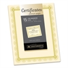 Southworth Premium Certificates, Ivory, Spiro Gold Foil Border, 66 lb,  8.5 x 11, 15/Pack