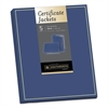 Certificate Jacket, Navy/Gold Border, Felt, 88lb Stock, 12 x 9 1/2, 5/Pack