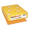 Color Cardstock, 65lb, 8 1/2 x 11, Cosmic Orange, 250 Sheets