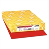 Color Paper, 24lb, 11 x 17, Re-Entry Red, 500 Sheets
