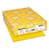 Astrobrights Color Paper, 24lb, 8 1/2 x 11, Solar Yellow, 500 Sheets