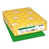 Astrobrights Color Cardstock, 65lb, 8 1/2 x 11, Gamma Green, 250 Sheets