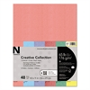 Astrobrights Glisten Pearlescent Colored Card Stock, 65lb, 8 1/2 x 11, 48 Sheets