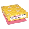 Exact Brights Paper, 8 1/2 x 11, Bright Pink, 20lb, 500 Sheets