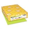 Color Cardstock, 65lb, 8 1/2 x 11, Vulcan Green, 250 Sheets